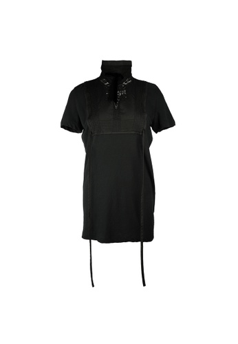 Dsquared2 black Dsquared2 High Neck Velvet Ribbon Top in Black A729BAA3E07252GS_1