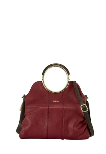 SEMBONIA red SEMBONIA Synthetic Leather Satchel Bag (Maroon) 6C909ACBFD588BGS_1