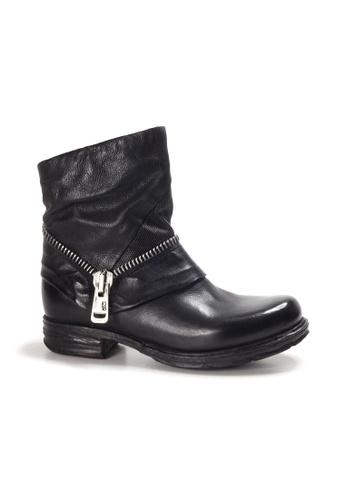 Shu Talk 黑色 A.S.98 型格拉鍊短靴 EE405SH3CF4DEBGS_1