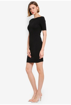 03c83d6a95717e Dorothy Perkins Petite Black Bodycon Dress RM 139.00. Available in several  sizes