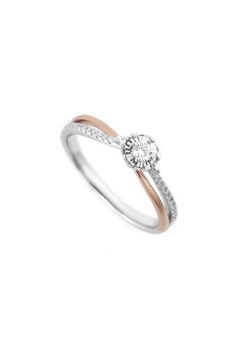 GOLDHEART gold GOLDHEART Promesee Ring, White Gold & Rose Gold 750 (PRO-R4628) E30DBACF8E5C2BGS_1