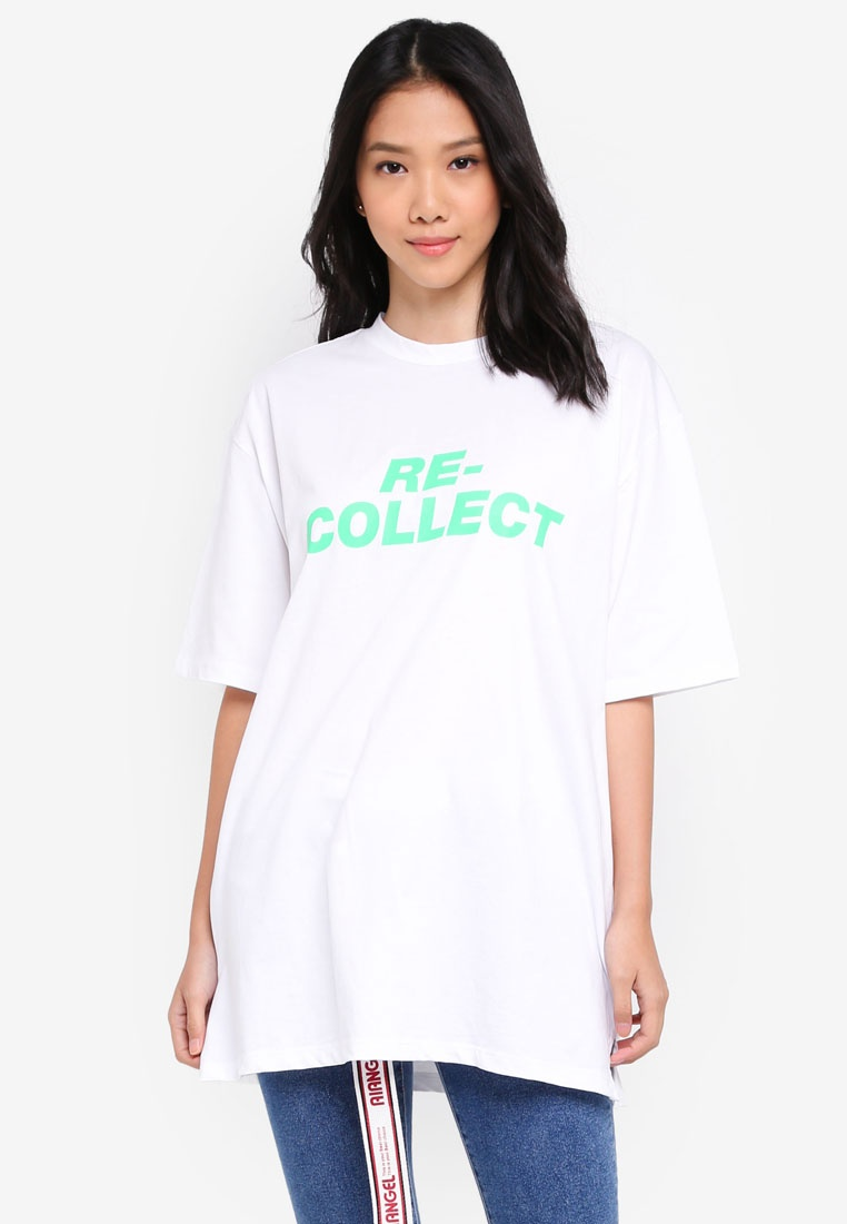 White Print Collect Top Lettering Re Stylenanda fgqwTxXW