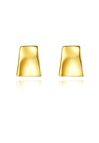 SUNRAIS gold High quality Silver S925 gold simple design earrings C06FAAC9C89E38GS_1