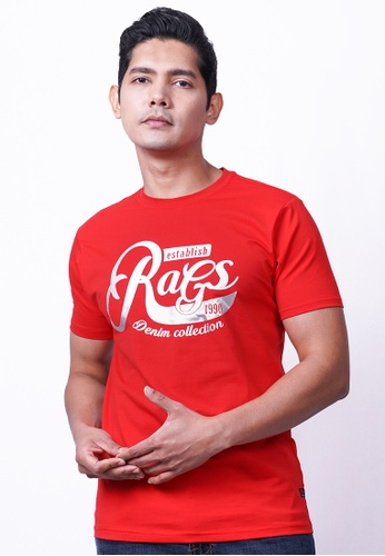 RAGS red Rags Graphic Tee Short Sleeve 4E8A7AA06B9EF5GS_1