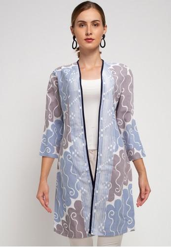 bhatara batik beige and grey MYESHA BLAZER 7383BAABE36A5FGS_1