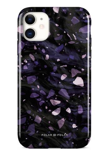Polar Polar purple Lilac Terrazzo Gem Dual-Layer Tough Case Glossy For iPhone 11 6DB5CACE32C685GS_1