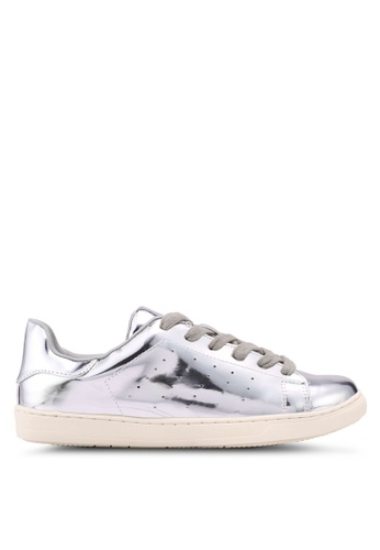 Something Borrowed silver Metallic Sneakers A53FBSH749D0FDGS_1