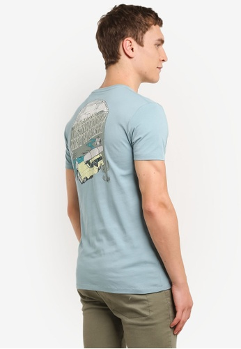 Timberland grey and blue Short Sleeve Still River Graphic Tee TI063AA0SB8SMY_1