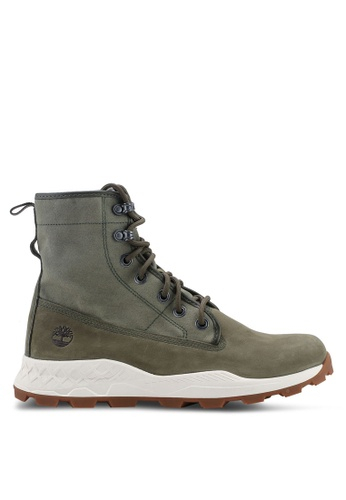 Timberland green Brooklyn Leather And Fabric Boots 148E7SHB78A4E6GS_1