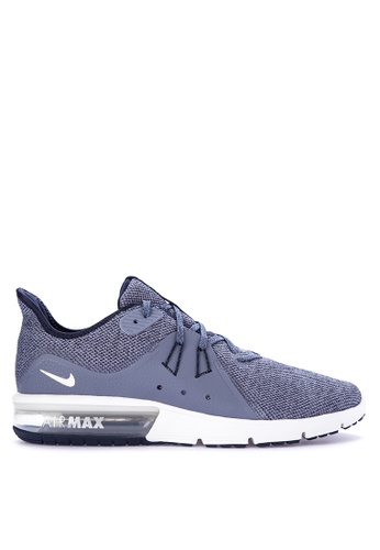 newest 1569c 51447 ... get nike white and blue mens nike air max sequent 3 running shoes  ni126sh0kpwbph1 45437 e36f3