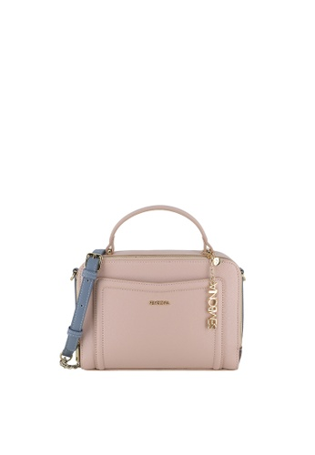SEMBONIA pink Bejewelled Zip-Around Crossbody Bag 00E54ACAAC82FAGS_1
