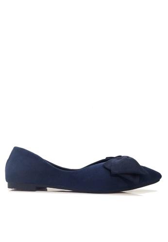 Twenty Eight Shoes 藍色 尖頭蝴蝶平底鞋 VL168 764AESH9FE39C5GS_1