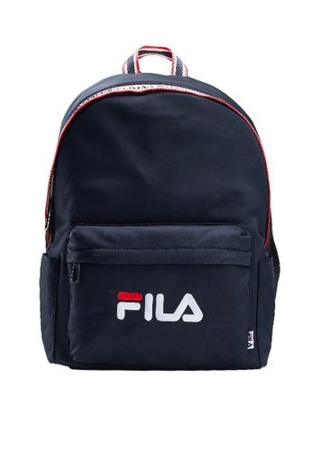 FILA navy FILA Logo Backpacks 16347ACB5E8FFBGS_1