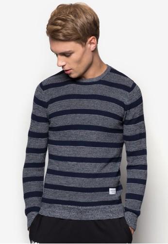條紋針織長袖衫, 服飾, esprit台灣外套