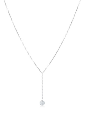 ELLI GERMANY white Necklace Crystals Ball 0BF53AC8F85BCBGS_1