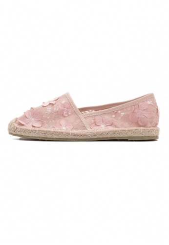 Sunnydaysweety pink 2017 New Sweet Lace Flower Loafer C071299PI SU443SH74XOBHK_1