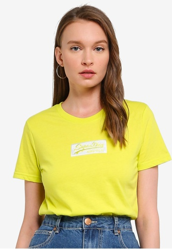 SUPERDRY yellow Vl Micro Emb Box Entry Tee 9FD78AA42BAF5BGS_1