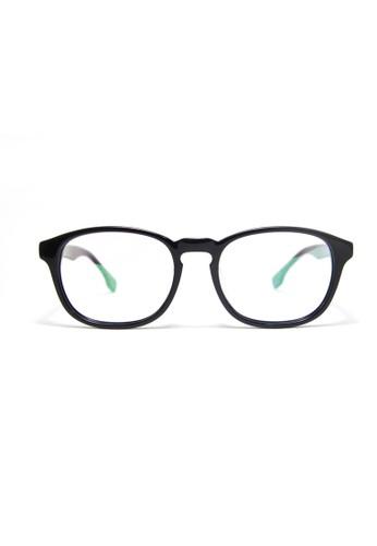 2i'esprit 內衣s│復古黑色眼鏡│手工鏡架│意大利板材│一年免費保養│412-C1, 飾品配件, 眼鏡