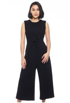 9110c72424e Nichii black Culotte Jumpsuit with Sash Tie 9C5EDAA6DF7323GS 1