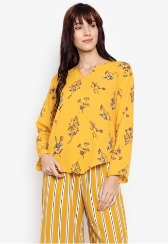 M and M yellow Cindy Printed Longsleeves B1AB2AAB53356BGS_1