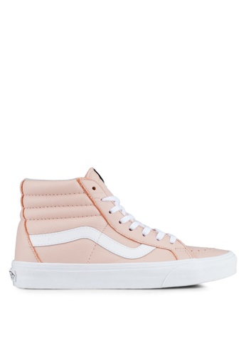 VANS pink SK8-Hi Reissue Leather Sneakers VA142SH0SWVDMY_1