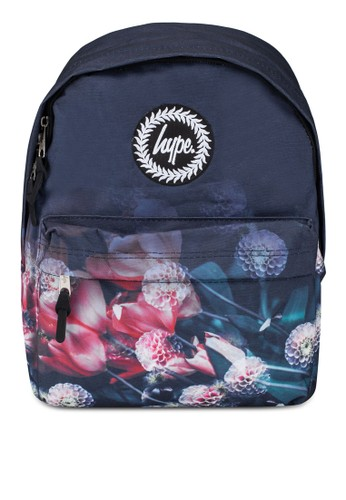 Just Hype black and multi Close Rose Fade Backpack 48010ACA4F017BGS_1