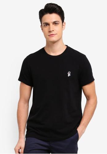Jack Wills black Elmstone Mr Wills T-Shirt 6AD66AA54B7E85GS_1