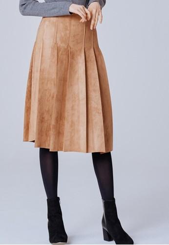 絨面百褶中裙, 服飾, 及esprit outlet 台中膝裙