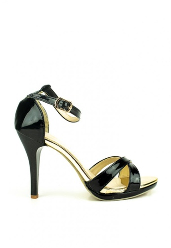 Mario D' boro Runway black Olive Evening Heeled Sandals 895D3SH37416A6GS_1