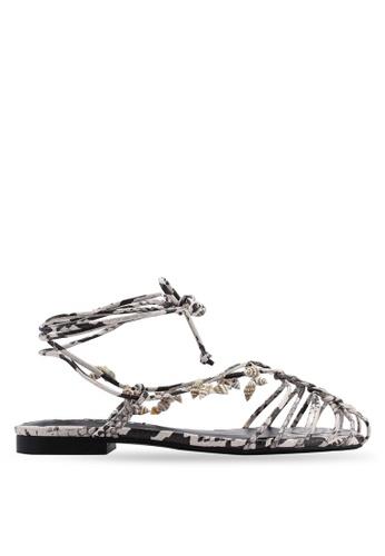 Mango grey Seashell Strap Sandals 0AA74SHCFE46A7GS_1