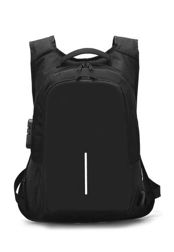 Jackbox black Anti Theft & Snatch Business Laptop Backpack with Password Lock & USB Charging Port 538 (Black) C218DAC88C320BGS_1