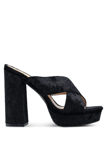 Carlton London black Velvet Heels 875C5SHC848FCCGS_1