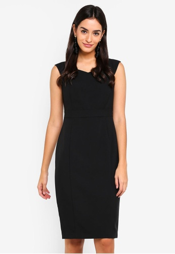 Dorothy Perkins black Black Sweetheart Dress BD148AAB55B70EGS_1