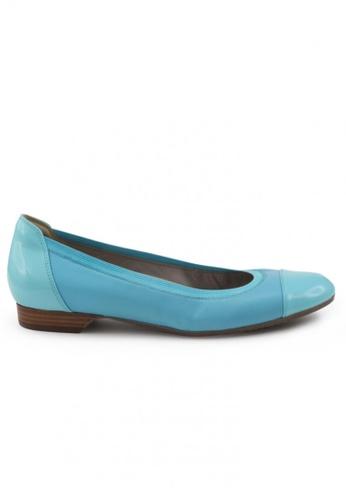 Shu Talk 藍色 羊軟皮圓頭低跟鞋 SH544SH099TOTW_1