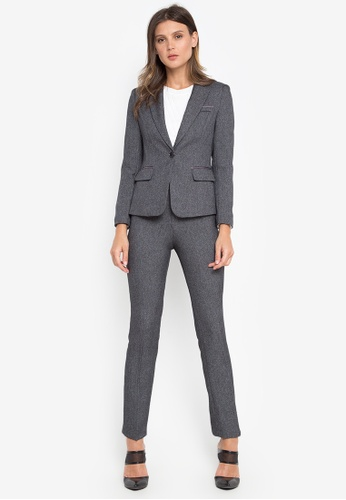 Well Suited grey Petite Blazer with Pants 182F1AAE2945B8GS_1