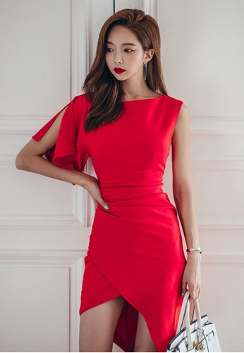 Sunnydaysweety red 2017 S/S Fashion Red color One-Piece Dress UA040309 SU219AA37DVYSG_1