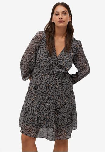 Violeta by MANGO grey Animal Print Dress FFAA6AA2FC46BFGS_1