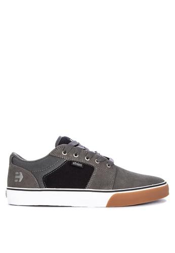 Etnies grey Barge Ls Sneakers 32657SH4E59A24GS_1
