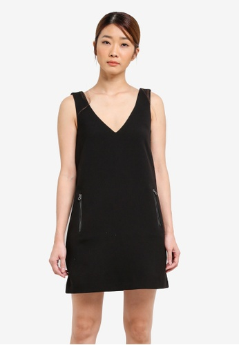 ESPRIT black Woven Midi Dress ES374AA0S2R7MY_1
