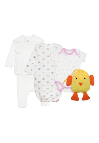 Baby 9months white and pink and yellow and multi Baby Girl Chick Gift Set 6DF04KA445092EGS_1