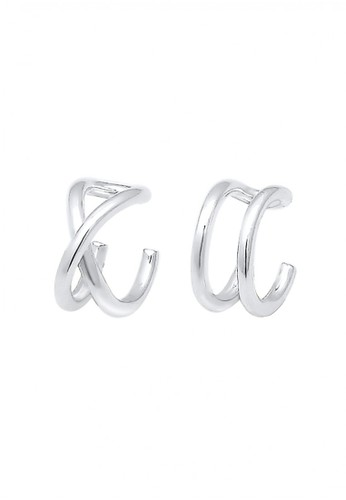 Elli Germany silver Perhiasan Wanita Perak Asli - Silver Anting Earrcuff Basic BDE64AC1FD6BE1GS_1