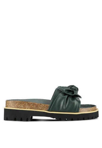 Something Borrowed green Knot Flatform Footbed Sandals 8A6AESHA71D2C5GS_1
