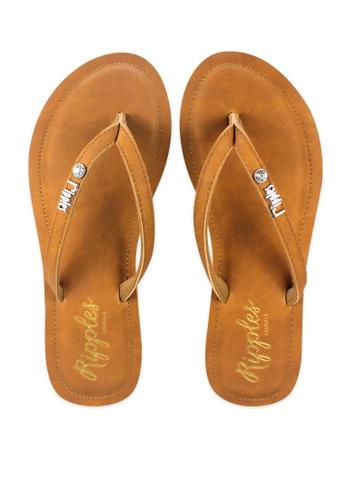807ae124787d Buy Ripples Pearlyn Diamond Stud Leather Ladies Sandals Online on ZALORA  Singapore