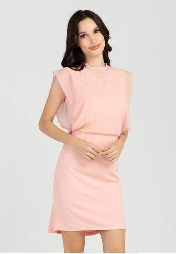 BA&DO pink Conchita 2-in-1 Sheer Combi Dress 435BFAA9FF8F5CGS_1