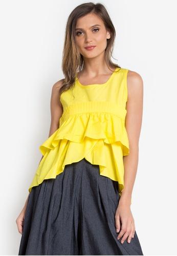 Spring Fling yellow Sleeveless Layered Top SP673AA0KI4HPH_1