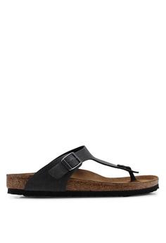 dafaa3c8f5a08 Birkenstock grey Gizeh Pull Up Sandals 4CAF7SH9806934GS 1