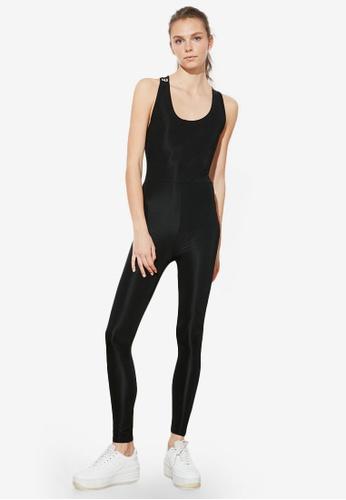 Trendyol black Cross Back Sports Jumpsuit 4DD7BAA28D781EGS_1