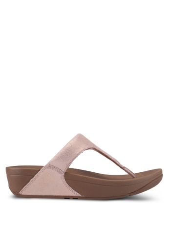 Fitflop gold Shimmy Suede Toe-Post Sandals E7E25SH14AE236GS_1