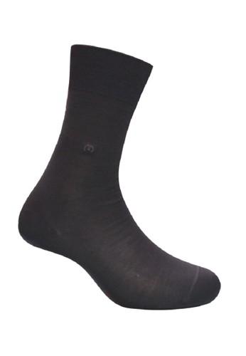 Mundo grey Mundo Orange Business Men Sock 100% Mercerized Cotton - IJ2M500 EB3D2AA10824D9GS_1