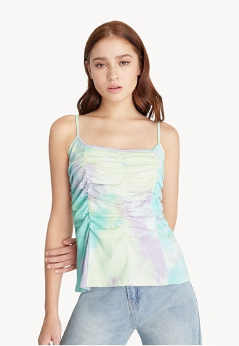 Pomelo purple Tie Dye Ruched Tank Top - Purple 0A1FFAA60C9F08GS_1